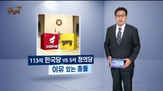 [여의도 풍향계] 113석 한국당과 5석 정의당의 이유있는 충돌