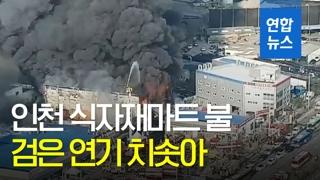 [영상] 인천 식자재 마트 큰 불…50분 만에 진화