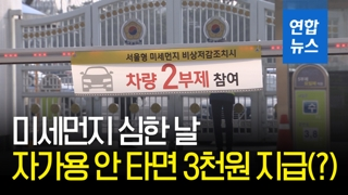 [영상] 미세먼지 심한 날, 자가용 안 타면 3천원 지급(?)