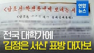 [영상] 대학가에 '김정은 서신' 표방 대자보…경찰 수사