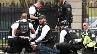 미국 백악관 앞에서 외투에 불붙인 남성 체포