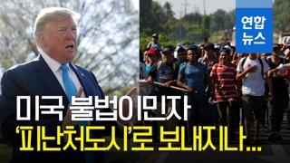 """[영상] 트럼프 """"체포된 불법이민자들 피난처도시 이송"""" 검토"""