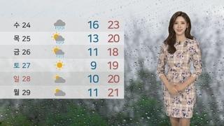 [날씨] 내일 전국 비…때이른 더위 누그러져