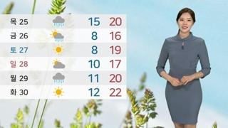 [날씨] 낮에도 흐리고 빗방울…서울 26도ㆍ대구 22도