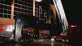 中광시 술집 지붕 무너져…3명 숨지고 87명 부상