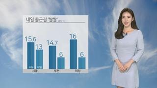 [날씨] 내일 출근길 다소 '쌀쌀'…큰 일교차 유의