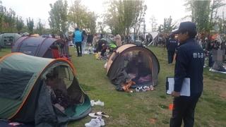 한강 텐트 단속 '100만원 과태료' 0건