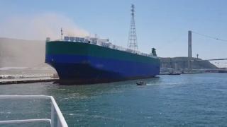 수출차량 이송선박서 불…암모니아 누출 소동까지