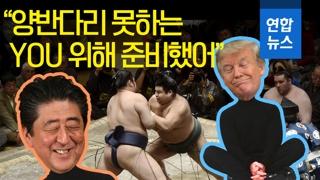 [영상] '양반다리' 못하는 트럼프 위해 아베가 준비한 것은?