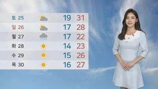 [날씨] 서울 올해 첫 폭염특보…서쪽·영남 공기질 나쁨