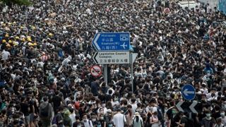 홍콩 시위대, 일요일 '100만 검은 대행진' 예고