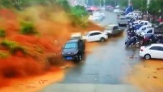 中 푸젠성 산사태…쏟아진 토사에 쓰나미 방불