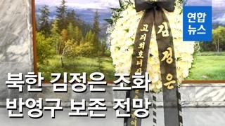 """[영상] 故이희호 애도 '김정은 조화'…""""남북관계 고려, 폐기 쉽지 않아.."""