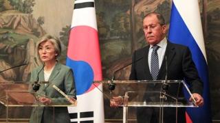 """한-러 외교장관, 모스크바서 회담…""""한반도 문제 중점 논의"""""""