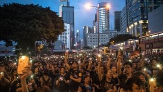 """홍콩 '우산혁명' 주역 """"촛불시위처럼 끝까지 싸울 것"""""""
