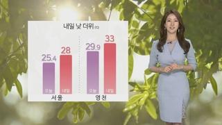 [날씨] 내일 맑고 자외선 강해…한낮 더위