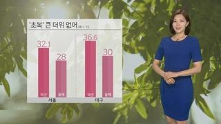 [날씨] '초복' 서울 낮 28도…경기·영서 소나기
