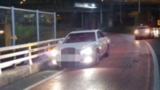 30대 만취 운전자 고속도로 램프 역진입 정면 충돌