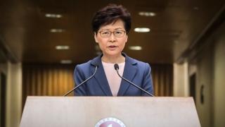"""캐리 람, 경찰과 충돌한 시위대 """"폭도"""""""