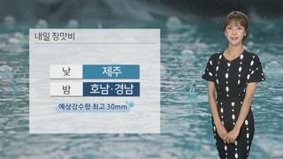 [날씨] 장마전선 점차 북상…내일 남부 장맛비 내려