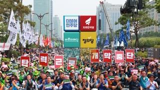 여야, 민노총 파업 비판…탄력근로제 처리 무산