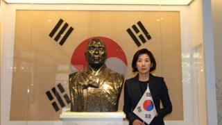 """""""공산주의 반대한 백범 찾아""""…나경원 임정청사 방문"""