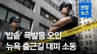 """[영상] '자라 보고 놀란 가슴' 뉴욕서 밥솥에 대피 소동…""""폭발물 아냐.."""