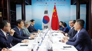 """한중 외교장관회담…中왕이 """"한일 갈등 할 일 하겠다"""""""