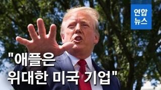 """[영상] 트럼프 """"삼성은 관세 내지 않고 애플은 내…불공평"""""""