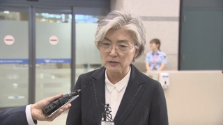 [현장연결] 강경화 외교장관, 한·중·일 회담 마치고 귀국
