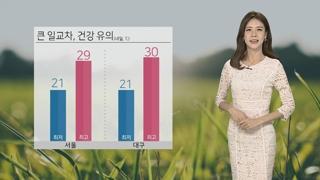 [날씨] 주말 맑고 공기질 무난…큰 일교차 유의