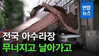 [영상] 가로수 뽑히고 담장 무너지고…'링링'으로 전국 아수라장