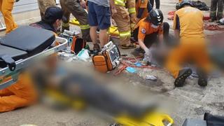 영덕 오징어 가공업체서 외국인 노동자 4명 사상