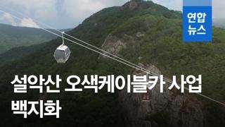 """[영상] '환경파괴 우려' 설악산 오색케이블카 백지화…환경부 """"부동의"""""""