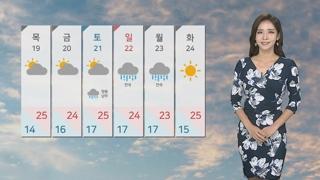 [날씨] 중부 선선, 남부 늦더위…동해안 약한 비