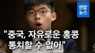 [영상] 조슈아 웡, 美 의회 청문회서 '홍콩인권법' 통과 촉구
