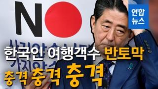 [영상] 뚝 뚝 뚝 뚝…'한국인 여행객수 반토막'에 놀란 일본