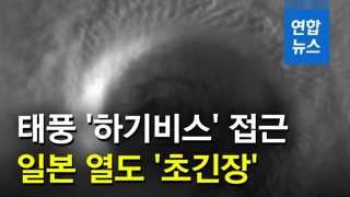 [영상] 강력 대형 태풍 '하기비스' 일본 열도 접근…역대급 피해 우려