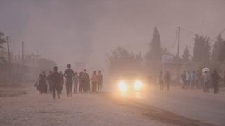 시리아 북동부에 피란행렬…하루만에 7만명 대피