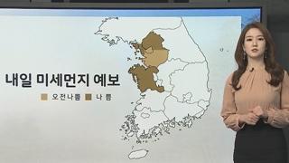 [날씨] 밤사이 스모그 유입…내일 중서부 미세먼지↑