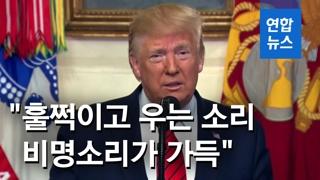 """[영상] 트럼프, 알바그다디 사망 공식 발표…""""군견에 쫓기다 자폭"""""""