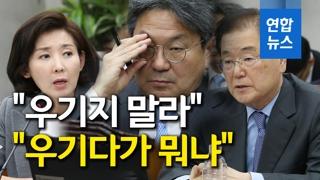 """[영상] 나경원 """"우기지 말라"""" vs 강기정 """"우기다가 뭐냐"""""""