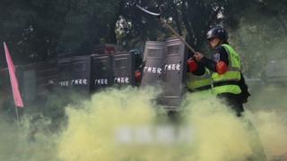 中공안, 홍콩 인접 광저우서 대규모 테러진압훈련