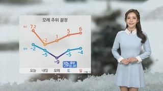 [날씨] 내일 한층 더 강한 추위…밤새 충청·호남 눈