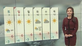 [날씨] 내일 출근길 추위 절정…주말까지 강추위 계속