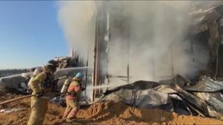 용인 물류센터 신축현장 큰불…작업자 300여명 긴급대피