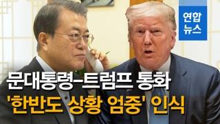 [영상] 문재인-트럼프 30분간 통화…비핵화 대화 모멘텀 유지 공감