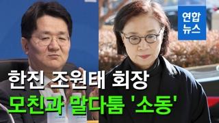 [영상] 한진 조원태 회장, 모친과 말다툼 '소동'…경영권 다툼 본격화