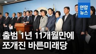 """[영상] 유승민계 8명 집단 탈당…""""바른미래, 국민의 마음 얻지 못해"""""""
