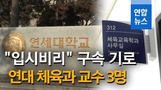 [영상] 연세대 교수 등 4명 '아이스하키 입시비리 의혹' 구속영장